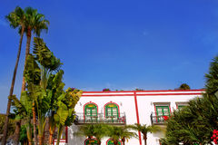 Gran canaria Puerto de Mogan white houses Stock Photography