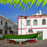 Gran canaria Puerto de Mogan white houses Royalty Free Stock Images
