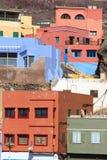 Gran Canaria. Puerto de Sardina, Gran Canaria - colorful town royalty free stock images