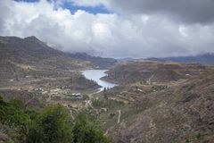 Gran Canaria, reservatório de Chira Fotografia de Stock