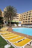 Gran Canaria resort. GRAN CANARIA, SPAIN - DECEMBER 3, 2015: People visit Jardin del Atlantico hotel in Gran Canaria, Spain. Canary Islands had record 12.9 royalty free stock images