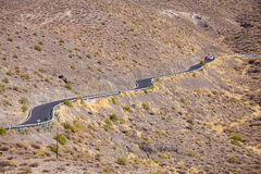 Gran Canaria, road from Agaete village to La Alder da San Nicola Stock Images