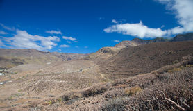 Gran Canaria, road from Agaete Stock Photo