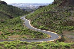 Gran Canaria road Royalty Free Stock Photography
