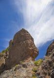 Gran Canaria, Rock formation at Risco Chapi Royalty Free Stock Photo