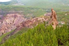 Gran Canaria roque EL fraile in Tejeda Lizenzfreie Stockfotografie