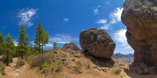 Gran Canaria, route Cruz de Tejeda - Artenara Stock Photo