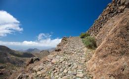 Gran Canaria, route Cruz Grande - Llanos de la Pez Stock Photography
