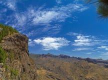Gran Canaria, rutt Cruz de Tejeda - Artenara Royaltyfri Foto