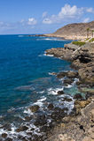 Gran Canaria sea. And cliff Stock Photos