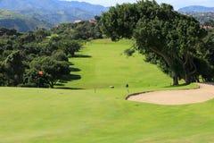Gran Canaria golf. GRAN CANARIA, SPAIN - DECEMBER 6, 2015: People visit Real Club de Golf Las Palmas in Gran Canaria, Spain. Canary Islands are a notable golfing royalty free stock images