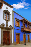 Gran Canaria Teror colorful facades Royalty Free Stock Photo