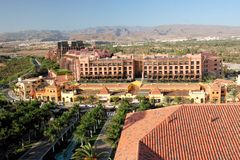 Gran Canaria, Toeristentoevlucht Meloneras Maspalomas royalty-vrije stock fotografie