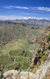 Gran Canaria, vertiginous view into Caldera de Tejeda. From Risco de Chapi Royalty Free Stock Image