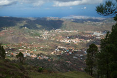 Gran Canaria, view from above over Valsequillo; Royalty Free Stock Photo