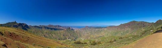 Gran Canaria, view across Caldera de Tejeda Royalty Free Stock Photo