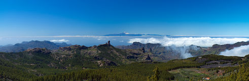 Gran Canaria, view From the highest point of the island, Pico de. Central gran Canaria,  view From the highest point of the island, Pico de Las Nieves, towards Royalty Free Stock Image