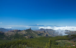 Gran Canaria, view From the highest point of the island, Pico de Stock Photo