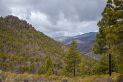 Gran Canaria, view from Las Cumbres Stock Images