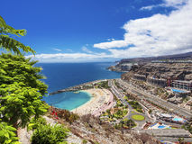 Gran Canaria. View over Amadores beach on Gran Canaria, Spain stock images