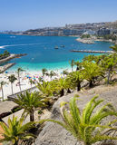 Gran Canaria. View over Amadores beach on Gran Canaria, Spain royalty free stock image