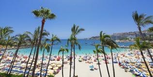 Gran Canaria. View over Anfi Del Mar beach on Gran Canaria, Spain royalty free stock photo