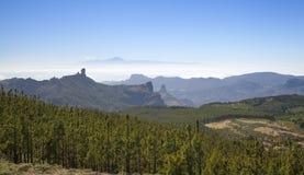 Gran Canaria, view from Pico de Las Nieves Stock Photo
