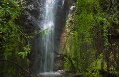 Gran Canaria, waterfall in the ravine Barranco de La Mina Royalty Free Stock Photos