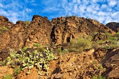 Gran Canarian Mountains Royalty Free Stock Photos