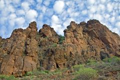 Gran Canarian mountains stock image