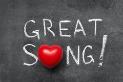 Gran canción Imagenes de archivo