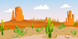 Gran canyon. With cactus in the desert stock illustration
