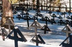 Gran cementerio de la guerra Imagenes de archivo