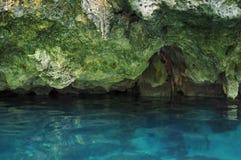 Gran Cenote在尤加坦,墨西哥 免版税库存照片