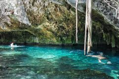 Gran Cenote in Yucatan, Messico immagine stock libera da diritti