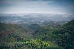 Gran central Canaria, visión desde arriba de la montaña fotos de archivo