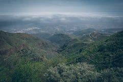 Gran central Canaria, visión desde arriba de la montaña imagen de archivo