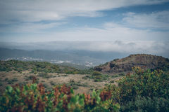 Gran central Canaria, vista da parte superior da montanha Fotos de Stock Royalty Free
