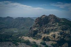 Gran central Canaria, vista da parte superior da montanha Imagem de Stock