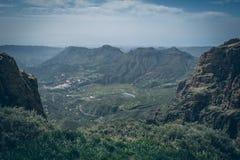 Gran central Canaria, vista da parte superior da montanha Imagem de Stock Royalty Free