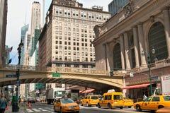 Gran Central Terminal facade in New York City royalty free stock photo