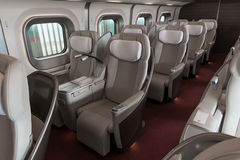 Gran class seats of E5 Series bullet(High-speed) train. Stock Image