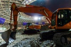 Gran construcción del estadio del deporte Imagen de archivo libre de regalías