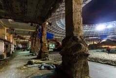 Gran construcción del estadio del deporte Fotos de archivo libres de regalías