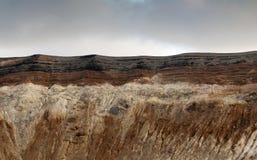 Gran Cratere. Eiland Vulcano Stock Foto