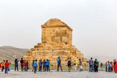 Gran Cyrus tumba de Pasargad fotos de archivo