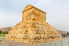 Gran Cyrus tumba de Pasargad Imagenes de archivo