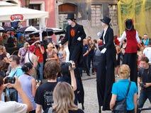 Gran desfile que hace juegos malabares, Lublin, Polonia Imagenes de archivo