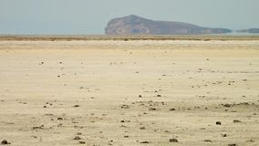 Gran desierto de la sal, rociada-e Kavir, Irán almacen de metraje de vídeo