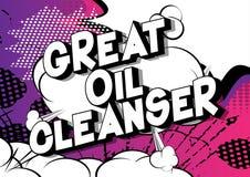 Gran despedregadora del aceite - palabras del estilo del cómic ilustración del vector